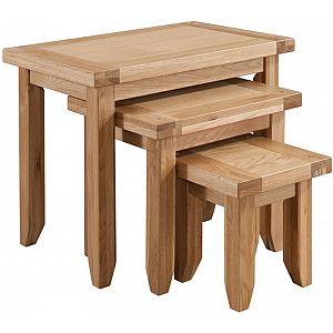 Colorado Oak Nest of Tables