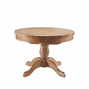 Colorado Oak Round Extending Table