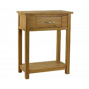 Essentials Oak 1 Drawer Console Table