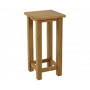 Essentials Oak Small Square Lamp Table