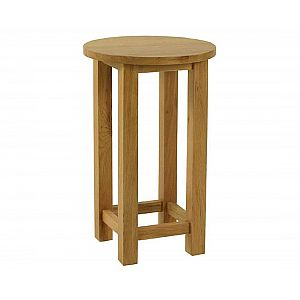 Essentials Oak Small Round Lamp Table