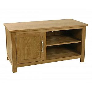 Essentials Oak 1 Door TV Unit