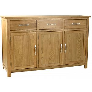 Essentials Oak Sideboard 3 Door - 3 Drawer