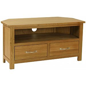 Essentials Oak Corner TV Unit