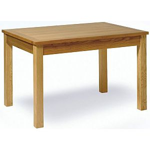 Essentials Oak Small Extending Dining Table 132cm - 192cm
