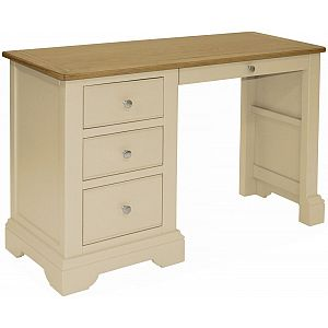 Harmony Cobblestone Single Pedestal Dressing Table
