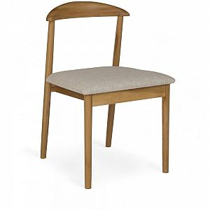 Malmo Oak Pearl Fabric Dining Chair