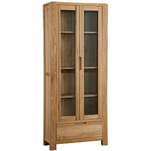 Oslo Oak Display Cabinet