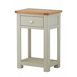 Portland Stone 1 Drawer Console Table