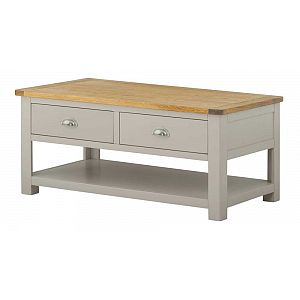 Portland Stone Coffee Table with 2 Drawers