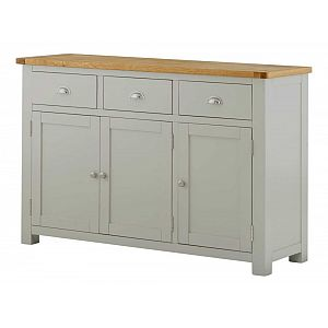 Portland Stone Large 3 Door 3 Drawer Sideboard