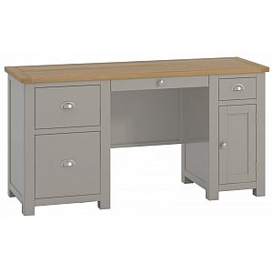 Portland Stone Office Double Pedestal Desk