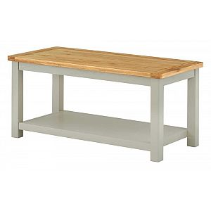 Portland Stone Coffee Table with Shelf