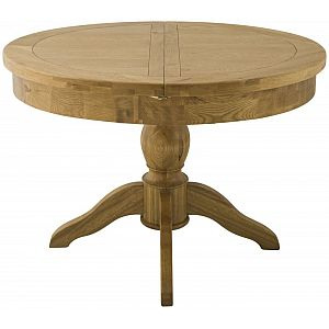 Portland Oak Grand Round Butterfly Extending Dining Table