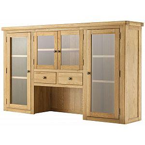 Portland Oak Grand 4 Door Dresser