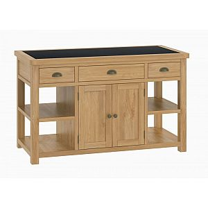 Portland Oak Large Kitchen Island Unit