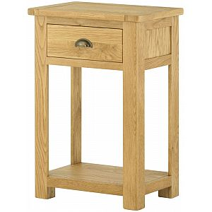 Portland Oak Small Console Table