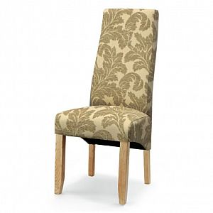 Wavey Stone Floral Dining Chair
