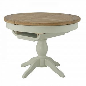 Portland Stone Grand Round Extending Dining Table