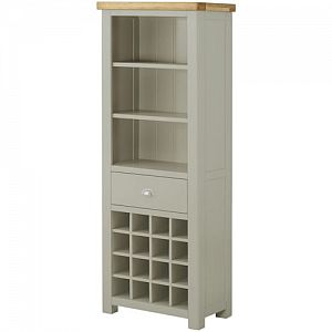 Portland Stone Grand Bookcase with Wine Holders