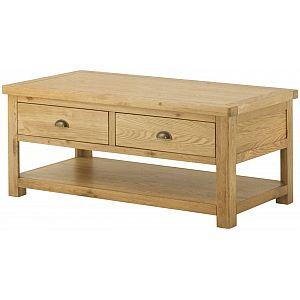 Portland Oak Grand Coffee Table with 2 Drawers
