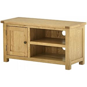 Portland Oak Grand Lowline TV Unit Cabinet