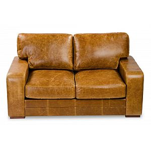 Luca Sofa Brown Cerato Leather 2.5 Seater