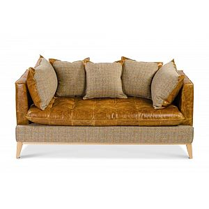 Portland Sofa Harris Tweed/Brown Cerato