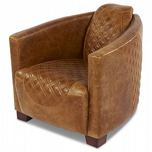 Emperor Chair Brown Cerato Leather