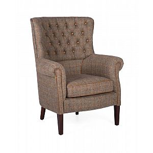 Holker Chair Harris Tweed Gamekeeper Thorn