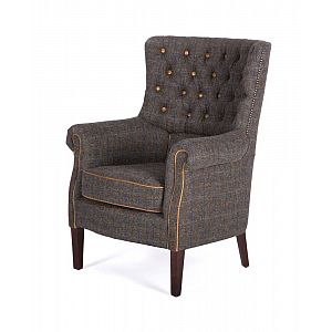 Holker Chair Harris Tweed Uist