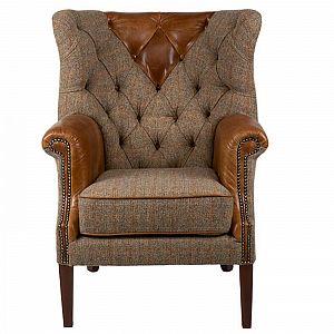 Kensington Chair Harris Tweed Gamekeeper/Cerato
