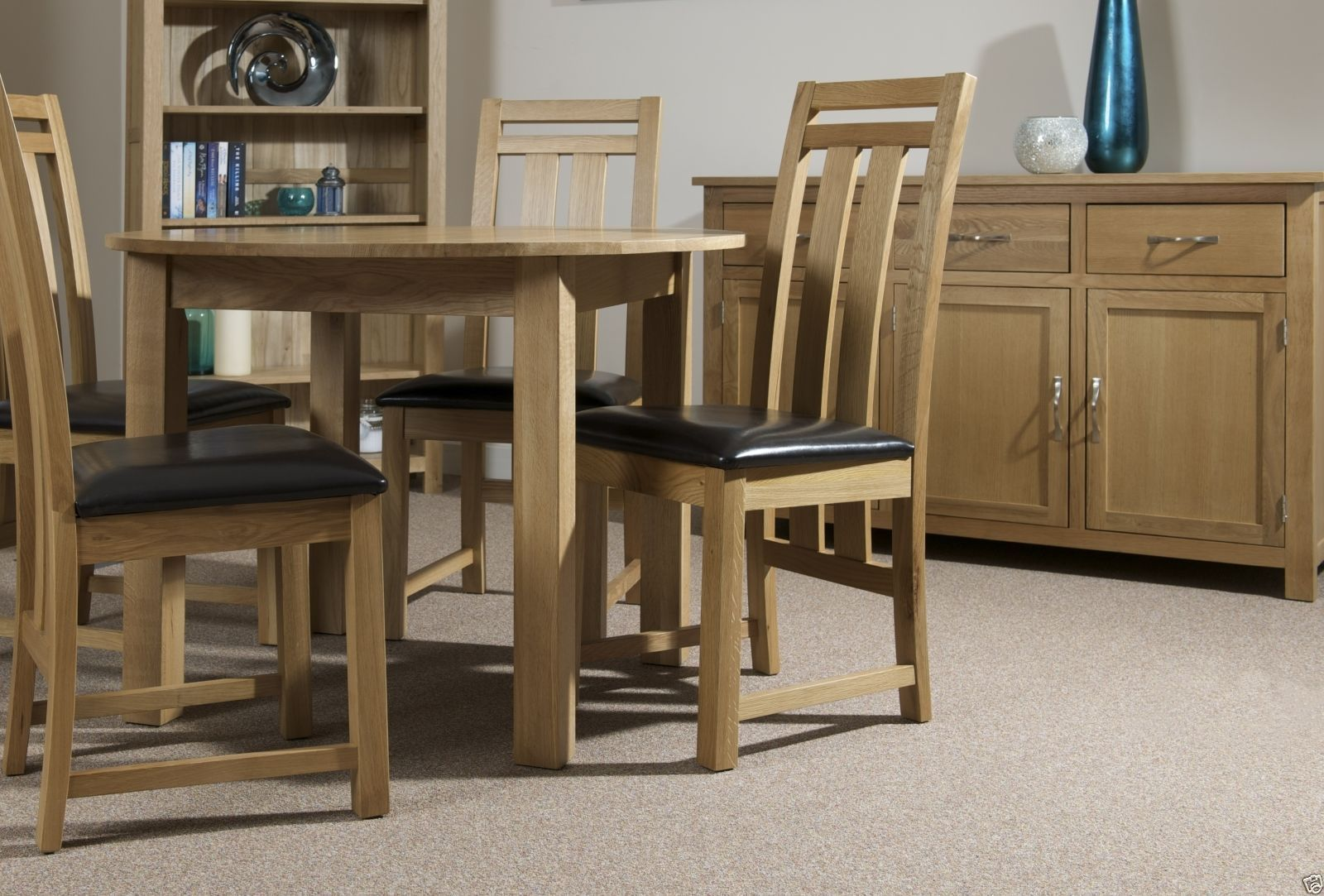 Essentials Oak Small Extending Dining Table 132cm