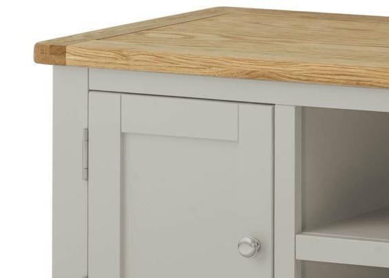 Portland Stone Large 2 Door TV Unit Cabinet
