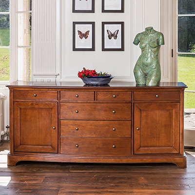 Lille Wide Glazed Top Sideboard