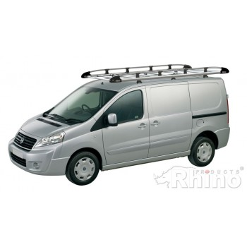 Rhino Aluminium Roof Rack - Citroen Dispatch 2007 - 2016 LWB Low Roof Twin Doors