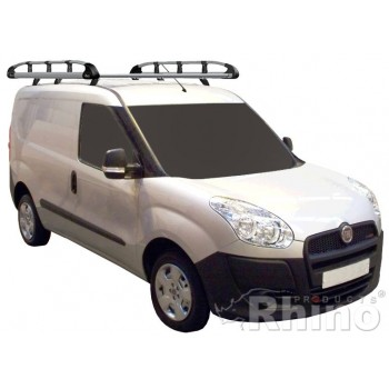 Rhino Aluminium Roof Rack - Fiat Doblo 2010 On SWB Low Roof Twin Doors